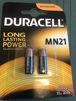 Duracell MN21 Alkaline Batteries 12V - Pack of 2 batteries twin pack