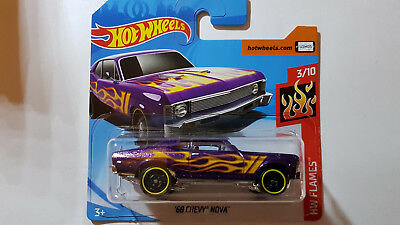 2018 Hot Wheels ´68 CHEVY NOVA HW Flames 2018 neu OVP