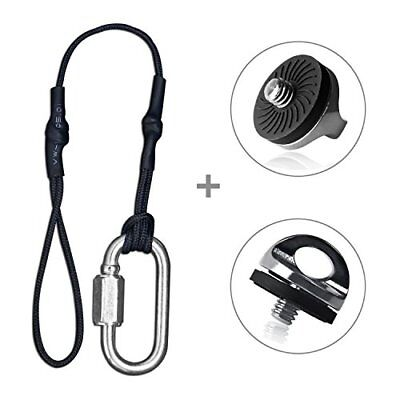 Camera Tether for DSLR Strap & 2 Pieces Quick Install Metal Screw for Neck