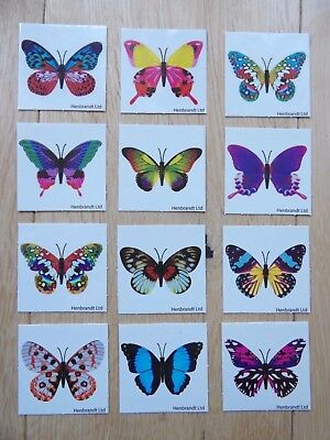 Set Of 12 Butterfly Temporary Tattoos