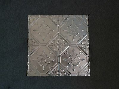 """12-14:  10 2 x 2 Tin Plated Steel Sheets Victorian Design Tin Ceilings 12"""""""