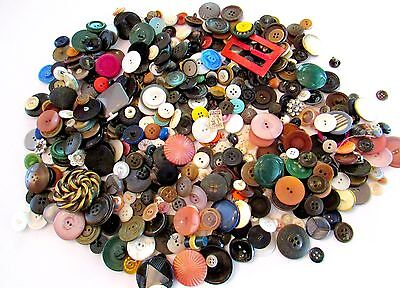 Most Memorable  Vintage Button Lot Collection FOUND IN TREADLE SEWING MACHINE