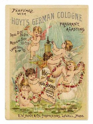 HOYT'S GERMAN COLOGNE, Victorian Trade Card, 273, Lowell, Massachusetts
