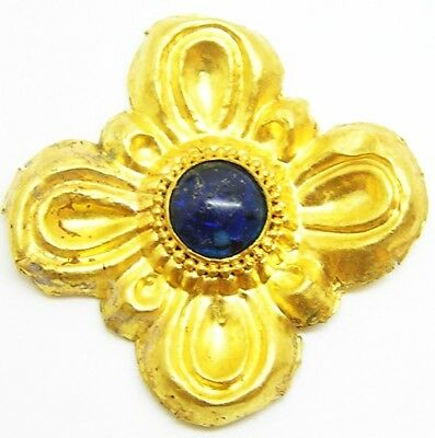 Superb Ancient Greek Scythian Jewelled Gold Floral Appliqué c. 5th century B.C.