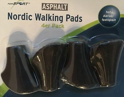 Nordic Walking Pads Cross Country Asphalt 4 er hohe Abriebfestigkeit Gummipuffer