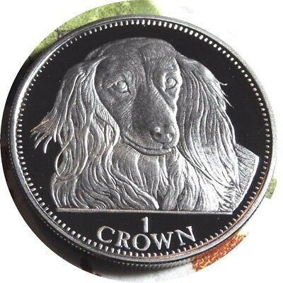 elf Gibraltar 1 Crown 1993 Royal Dachshund Dog  CN Proof