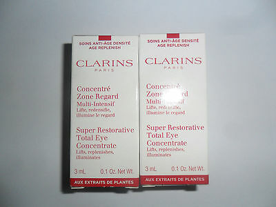 Clarins Super Restorative Total Eye Concentrate 2 X 3ml Total 6ml, BOXED
