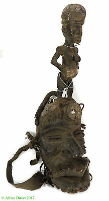 Dan Guere Mask Large Mouth and Figure on Top African Art SALE WAS $750