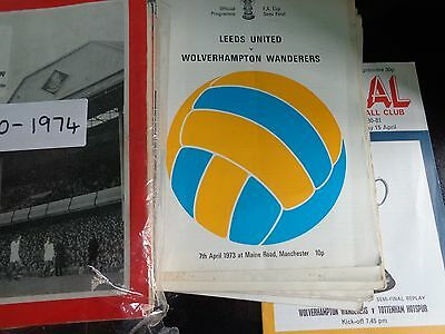 FA CUP SEMI FINALS 1968 to 1990s £2.99 EACH POST FREE BIG SELECTION