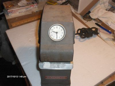 Vintage Strongberg Time Corporation Model 12 Time Stamp Machine, As Found