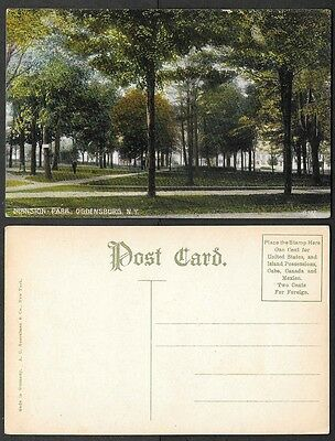 Old Postcard - Ogdensburg, New York - Mansion Park - Bosselman Company #8785