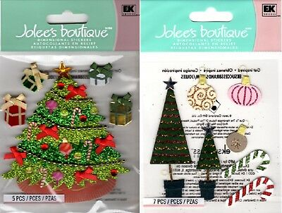 U CHOOSE Jolee's Stickers CHRISTMAS DECORATIONS - CLASSIC TREE Gifts Ornaments