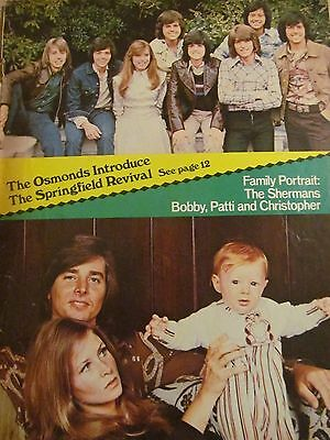 The Osmonds, Donny Osmond, Brothers, Bobby Sherman, Full Page Vintage Pinup