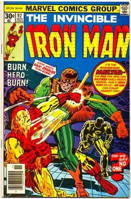 Iron Man 92 Marvel Bronze Age Melter Jack Kirby George Tuska 1976 Nr!