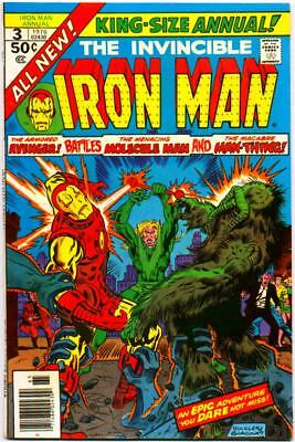 Iron Man Annual 3 Vf+ 8.5 Man-Thing Sal Buscema Marvel Bronze Age Giant 1976 Nr