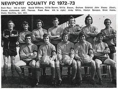 Newport County Football Team Photo 1972-73 Season