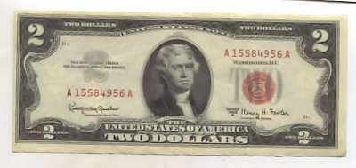 US United States Note - $2.00 Bill - Series 1963 A - US Currency - Red Seal