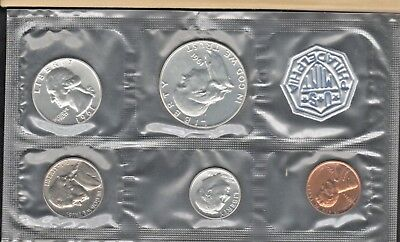 1961 U S Mint Silver Proof Set Sealed With COA Cards & Envelope