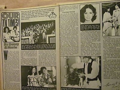 Donny and Marie Osmond, The Osmonds, Two Page Vintage Clipping