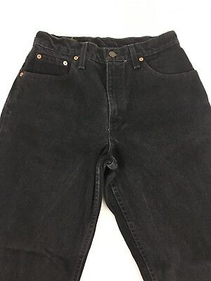 Vintage Levis 550 Womens Black Jeans Size Junior 9 S Relaxed Fit Tapered Leg