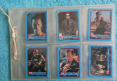 1991 Terminator 2 Card Set 1 - 44 Topps T2 in Pages