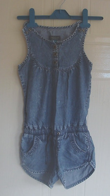 Girls Denim Shorts Jumpsuit From River Island - Age 4 Yrs