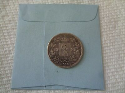 1865 Norway 12 skilling silver coin Scarce coin