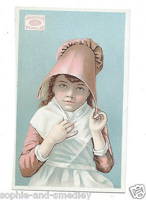 Victorian Trade Card - James Pyle's Pearline Soap - Sweet Little Dutch Girl