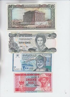 World Currency Collection  9 notes Uncirculated