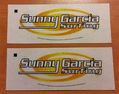 2 x SUNNY GARCIA SURFING STICKERS - EX PROMO FOR PS2 2001 GAME - FREEPOST