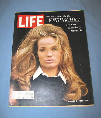 Life Magazine August 18 1967 Fashion Model Veruschka Boston Red Sox Baseball