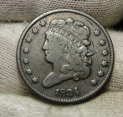 1834 Classic Head Half Cent - Nice Coin - Rare, Only 141,000 Minted (6562)