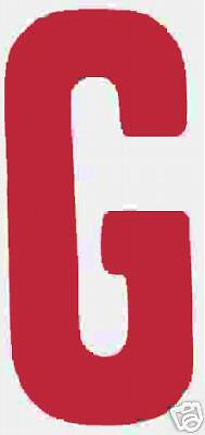 """8"""" Red Changeable Sign Letters on 9"""" back 300 pcs.  NEW"""