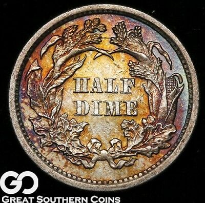 1872 Seated Liberty Half Dime, Very Nice Choice BU++ Siler Type * Free Shipping!