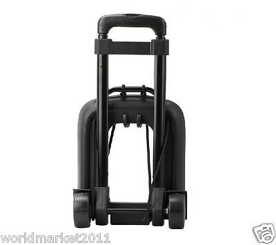 New Convenient Portable PVC Two Wheels Collapsible Shopping Luggage Trolleys