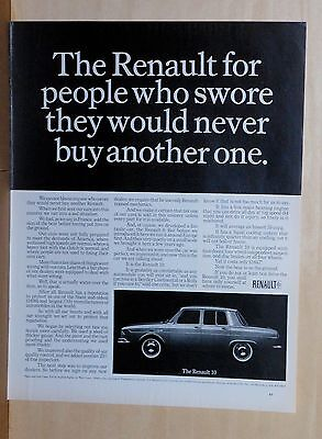1966 magazine ad for Renault - for people who swore they would never buy one