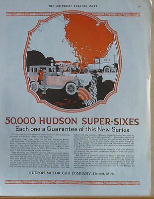 1918 magazine ad for Hudson - 50,000 Super Sixes, Each a guarantee of new series
