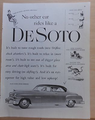 1951 magazine ad for DeSoto - Sportsman, built to tame rough roads