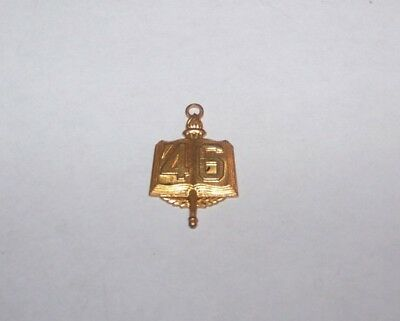 1946 Vintage High School College University Key Pendant Hickok Usa.