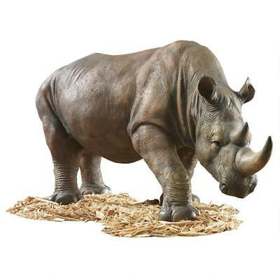 Rhino African Wild Life Rhinoceros Sculpture Large Scale Home Garden Statue