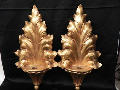Lot Of 2 Vintage Anthony Freeman Mcfarlin Pottery Gold Wall Sconce Pocket Vase