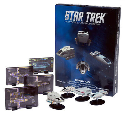 STAR TREK Official Starships Magazine SHUTTLECRAFT set #1 (4 pack) Eaglemoss