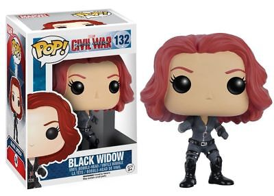 Funko Pop Neu & Ovp CAPTAIN AMERICA BLACK WIDOR ( POP 132)