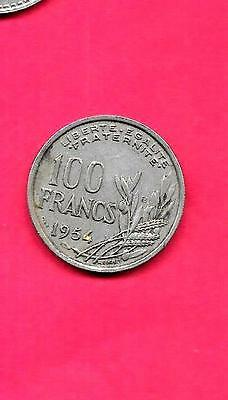 France French Km919.2 1954-B Vf-Very Fine-Nice Old Vintage 100 Francs Coin