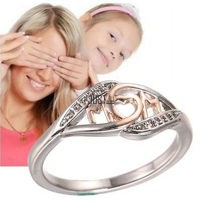 Frauen Mutter Mom Brief Ring Mode Jewlery Geschenke JTOO