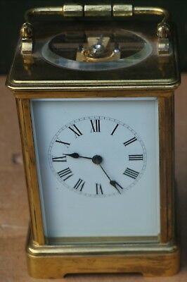 Large Quality Brass Working Striking Carriage Clock With Gong