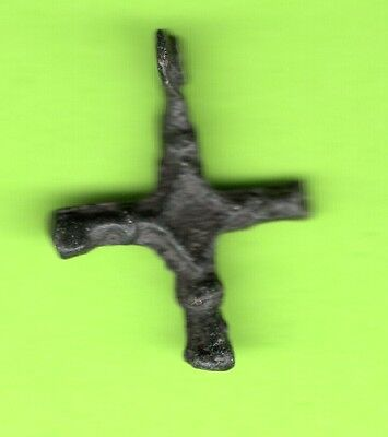 Russia Kiev type Bronze Cross Pendant Viking time 10-12th ca 1100 AD RARE 857