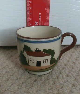 Devon Torquay Ware Pottery Decorated Coffee Cup