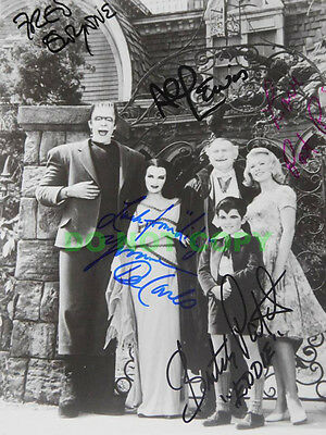 REPRINT RP 8x10 Signed Photo: Munsters Cast Fred Gwynne,Al Lewis,Butch Patrick