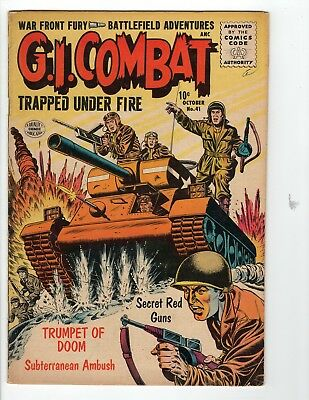 G.I. Combat #41 VG 4.0 Cream to Off White Pages 1st Silver Age Issue